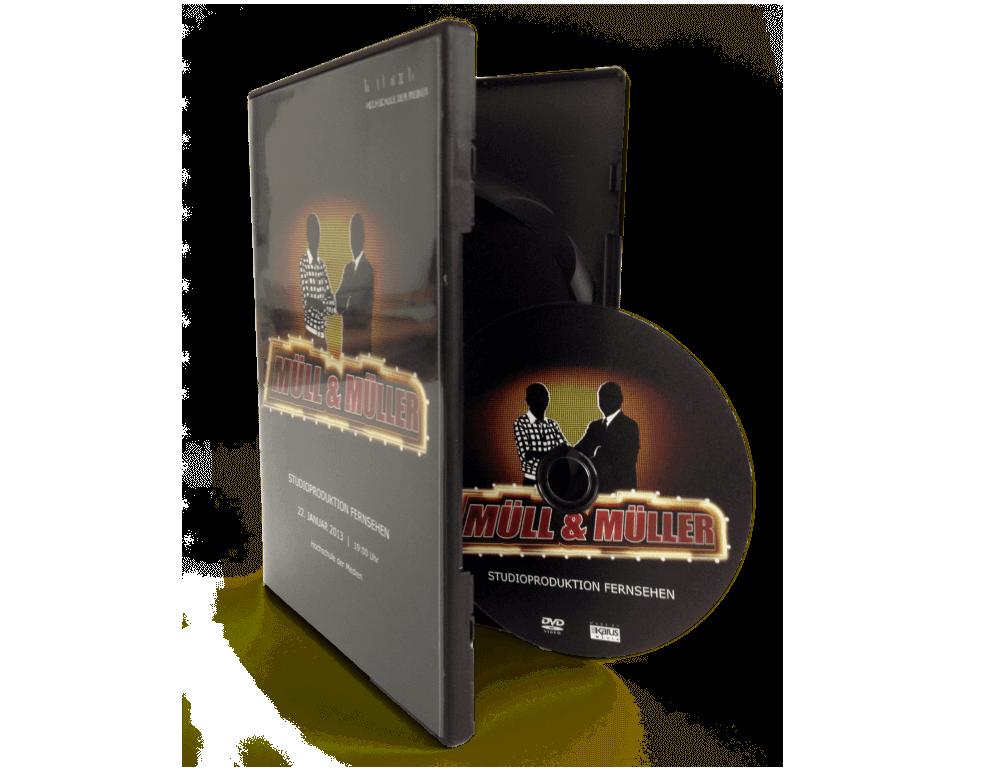 DVD in schwarzer Box mit Inlaycard